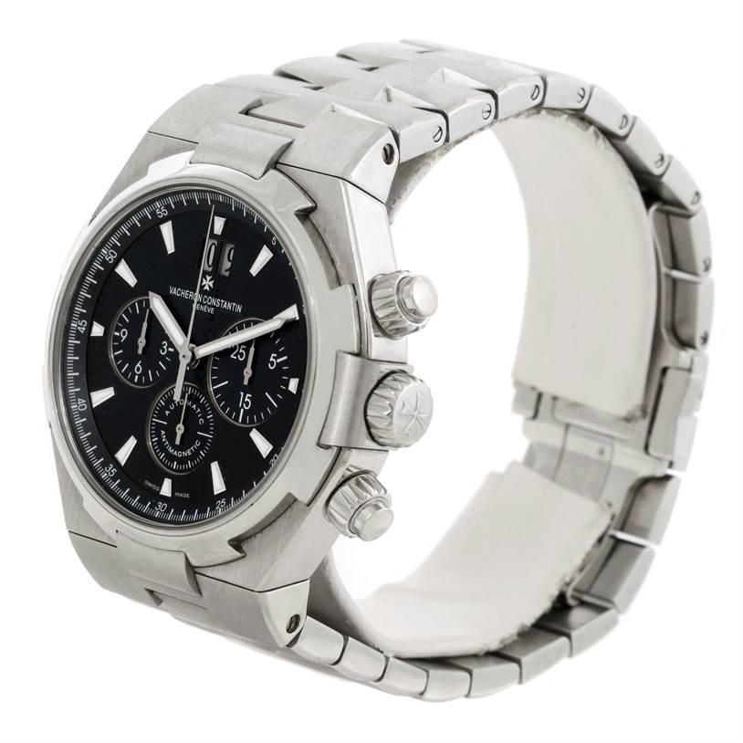 9719 Vacheron Constantin Overseas Chronograph Black Dial Watch 49150 SwissWatchExpo