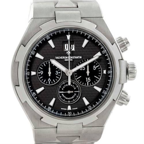 Photo of Vacheron Constantin Overseas Chronograph Black Dial Watch 49150