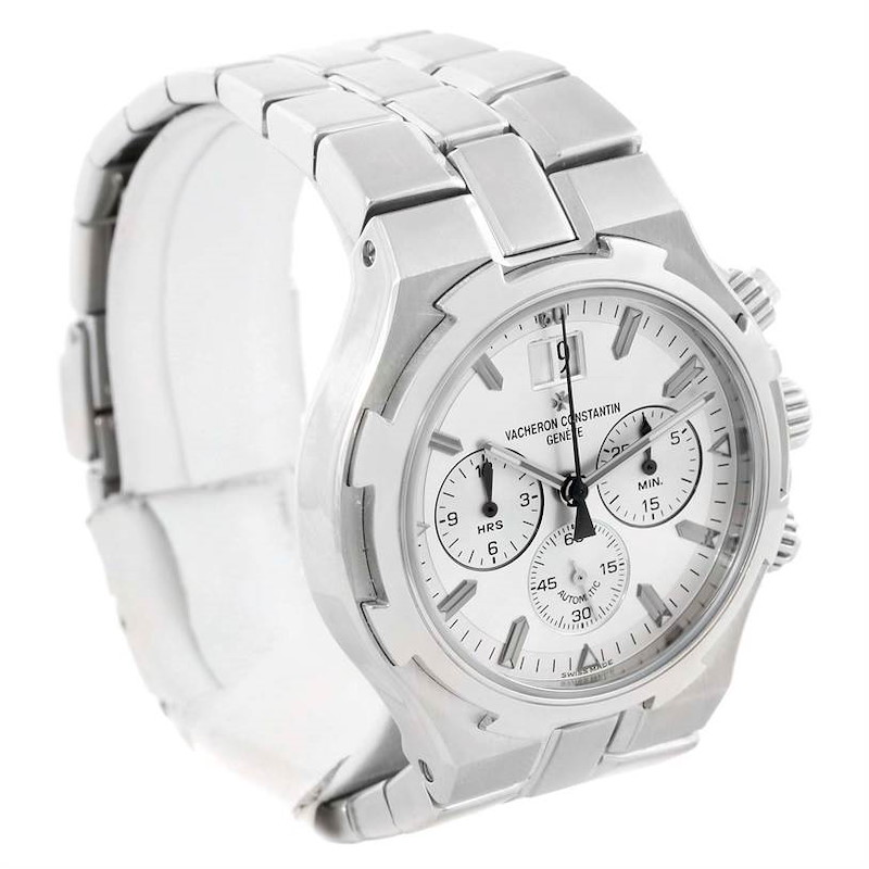 Vacheron Constantin Overseas Chronograph Silver Dial Watch 49140 SwissWatchExpo