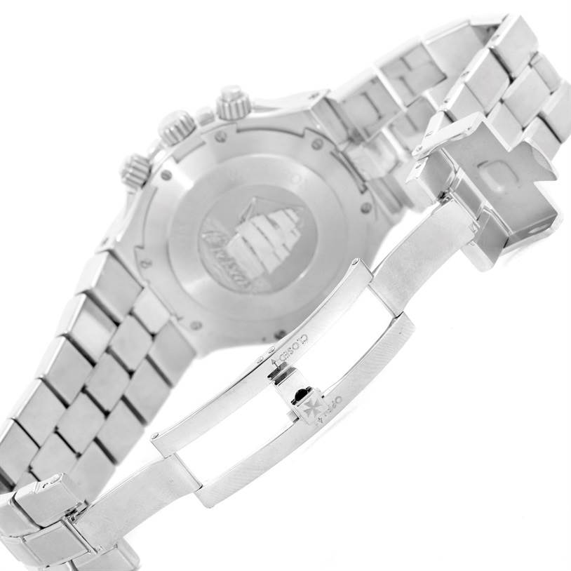 9851 Vacheron Constantin Overseas Chronograph Silver Dial Watch 49140 SwissWatchExpo
