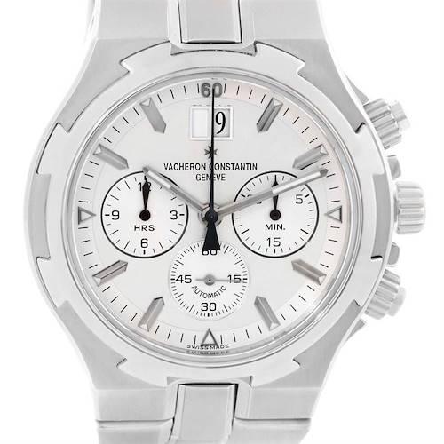 Photo of Vacheron Constantin Overseas Chronograph Silver Dial Watch 49140