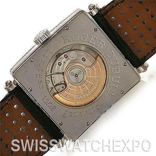 2459 Roger Dubuis   Golden Square 18K white gold diamond 15/28 SwissWatchExpo