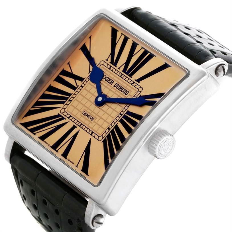 2968 Roger Dubuis Golden Square White Gold Limited Edition Mens Watch  SwissWatchExpo