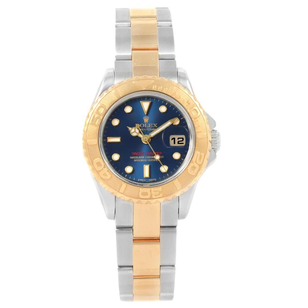 20898 Rolex Yachtmaster Steel 18K Yellow Gold Ladies Watch 169623 Box SwissWatchExpo