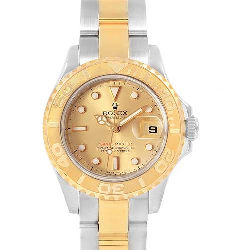 Photo of Rolex Yachtmaster Steel Yellow Gold Ladies Watch 69623 Box Papers