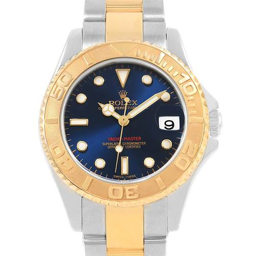 Photo of Rolex Yachtmaster 33 Midsize Steel Yellow Gold Unisex Watch 168623