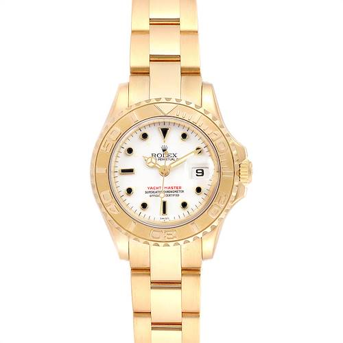 Photo of Rolex Yachtmaster 29 Yellow Gold Ladies Watch 169628 Box Papers