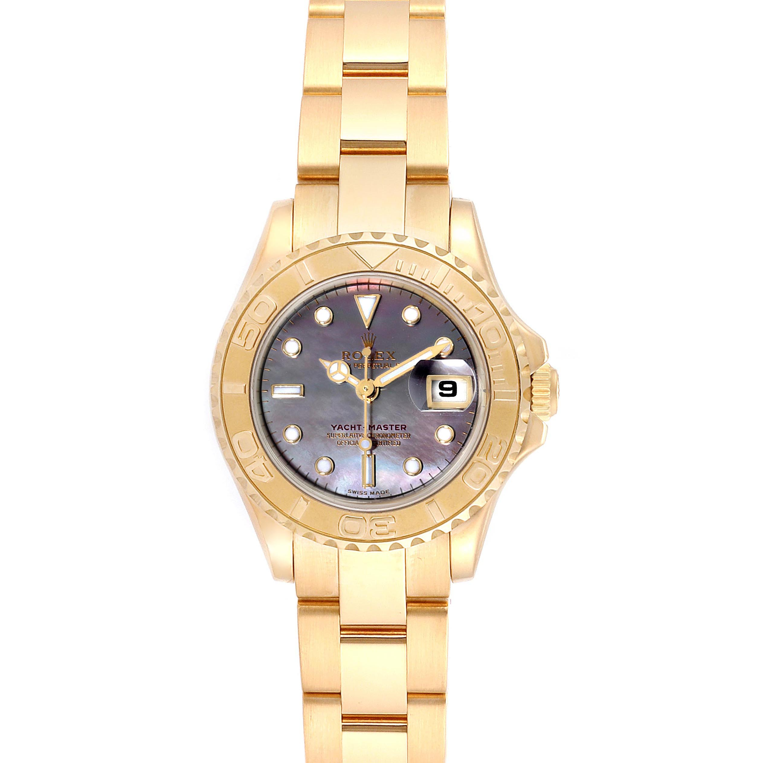 Photo of Rolex Yachtmaster 29 Yellow Gold MOP Dial Ladies Watch 169628