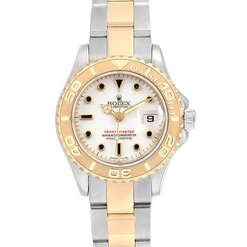 Photo of Rolex Yachtmaster 29 Steel Yellow Gold White Dial Ladies Watch 169623