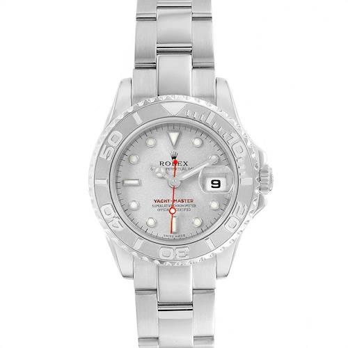 Photo of Rolex Yachtmaster 29 Steel Platinum Ladies Watch 169622 Box Card