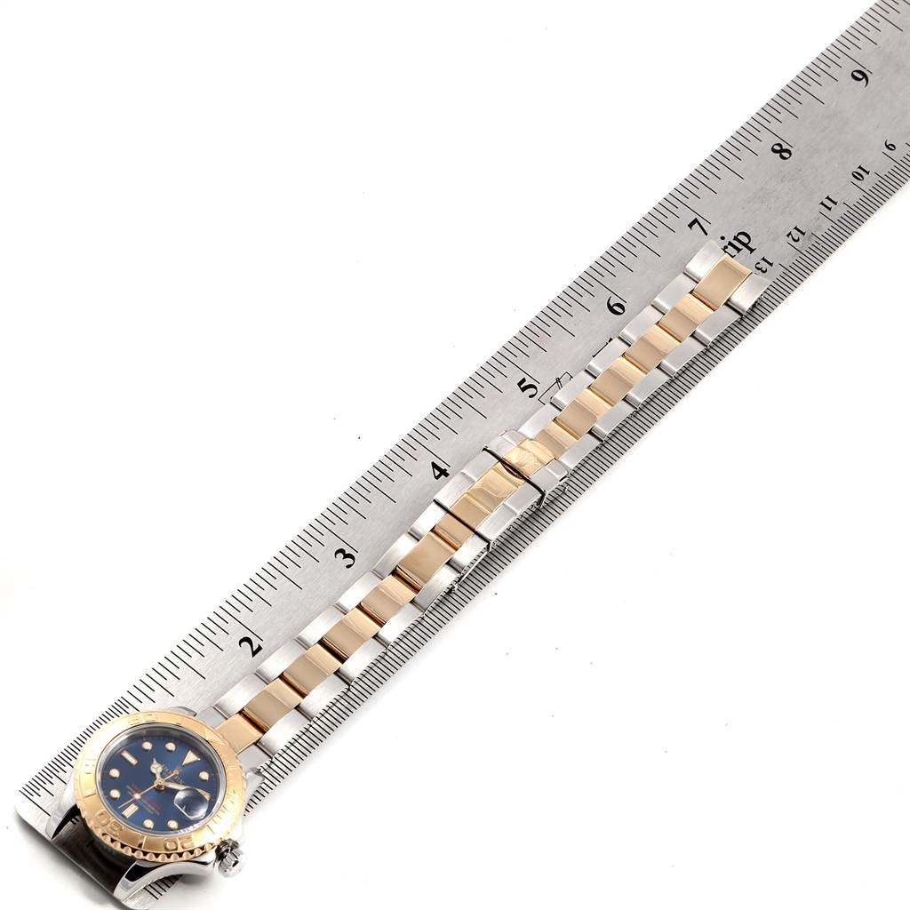 23708X Rolex Yachtmaster Steel Yellow Gold Ladies Watch 69623 Box Papers SwissWatchExpo