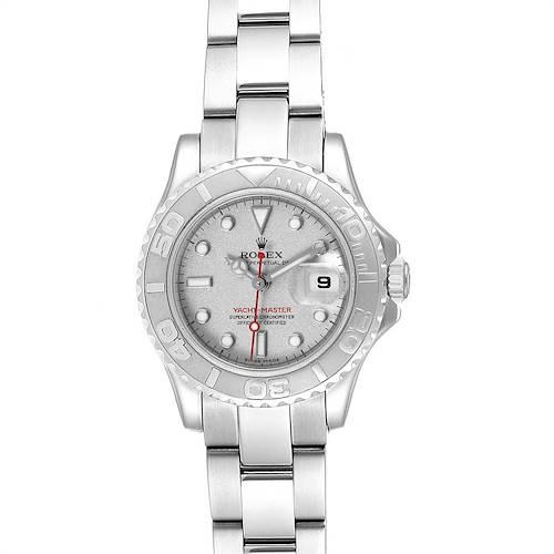 Photo of Rolex Yachtmaster 29 Steel Platinum Ladies Watch 169622 Box