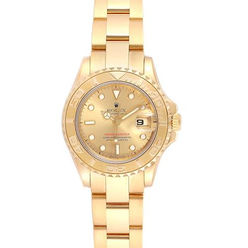 Photo of Rolex Yachtmaster 29 Yellow Gold Ladies Watch 69628 Box Papers