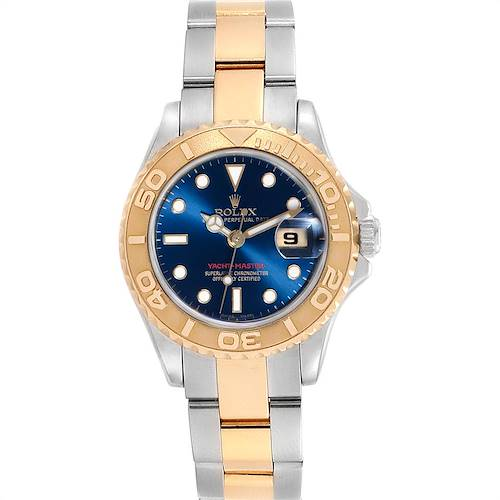 Photo of Rolex Yachtmaster 29 Steel Yellow Gold Blue Dial Ladies Watch 169623