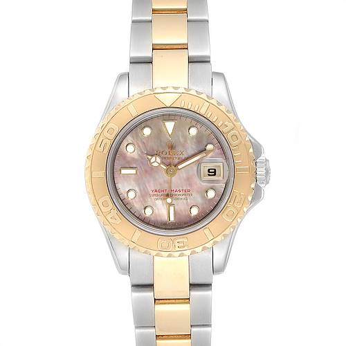 Photo of Rolex Yachtmaster 29 Steel Yellow Gold MOP Dial Ladies Watch 169623