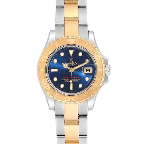 Photo of Rolex Yachtmaster Steel Yellow Gold Blue Dial Ladies Watch 69623