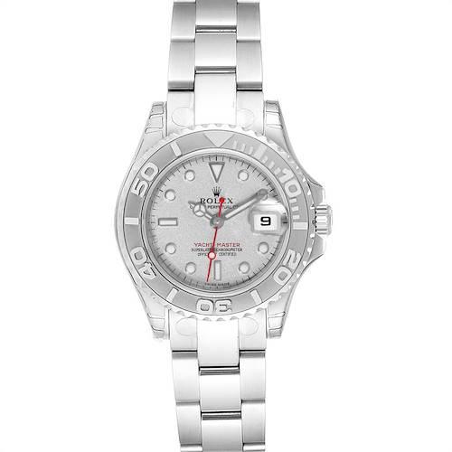 Photo of Rolex Yachtmaster 29mm Steel Platinum Ladies Watch 169622 Unworn