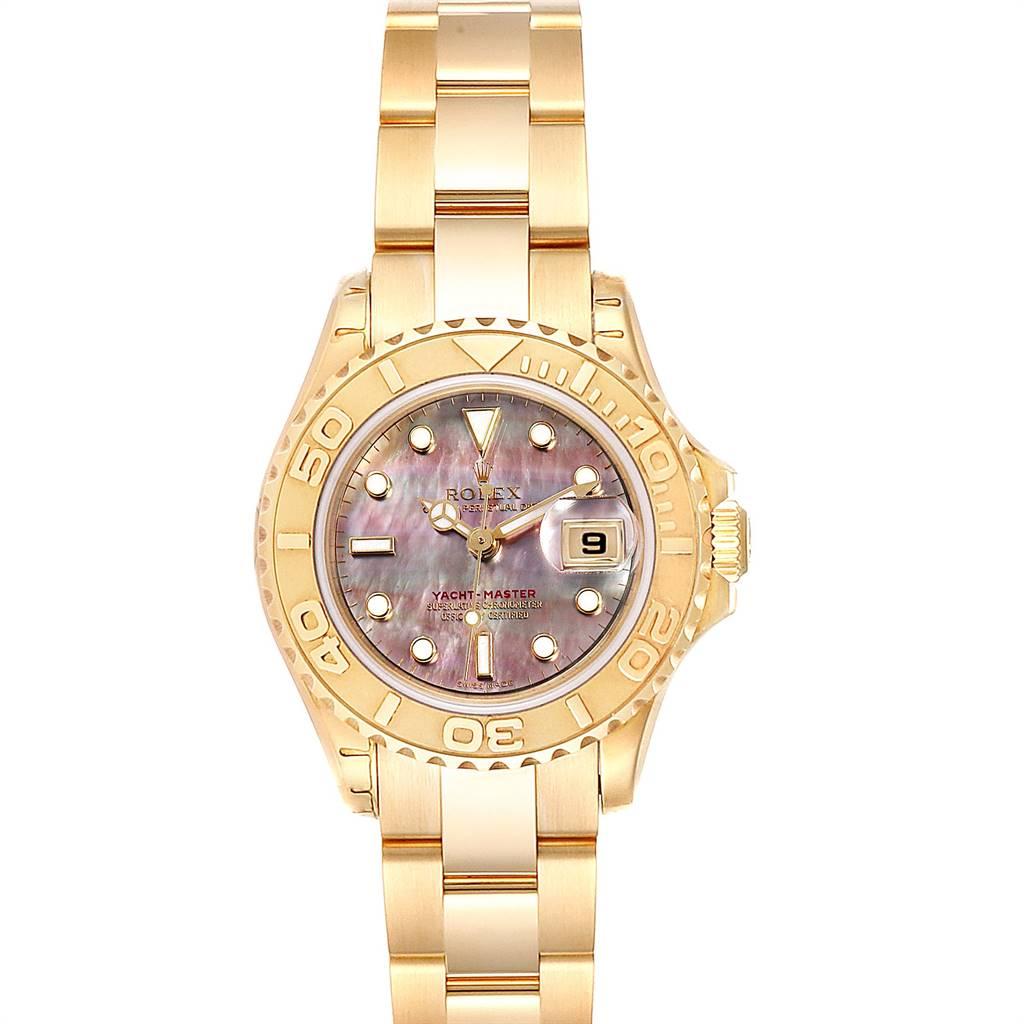 Photo of Rolex Yachtmaster 29 Yellow Gold MOP Dial Ladies Watch 169628 Unworn