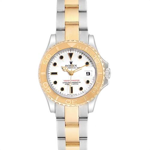 Photo of Rolex Yachtmaster Steel Yellow Gold White Dial Ladies Watch 69623