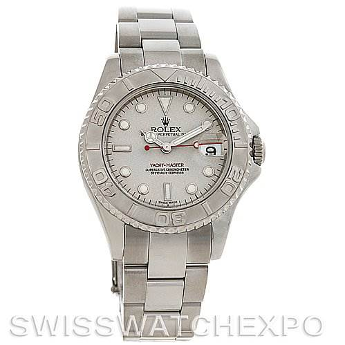 2700 Rolex  Steel and Platinum Yachtmaster Midsize 168622 SwissWatchExpo