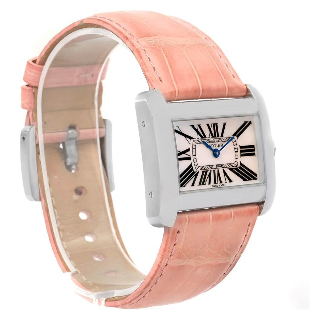15051 Cartier Tank Divan XL Limited Edition MOP Dial Ladies Watch W6301455 SwissWatchExpo