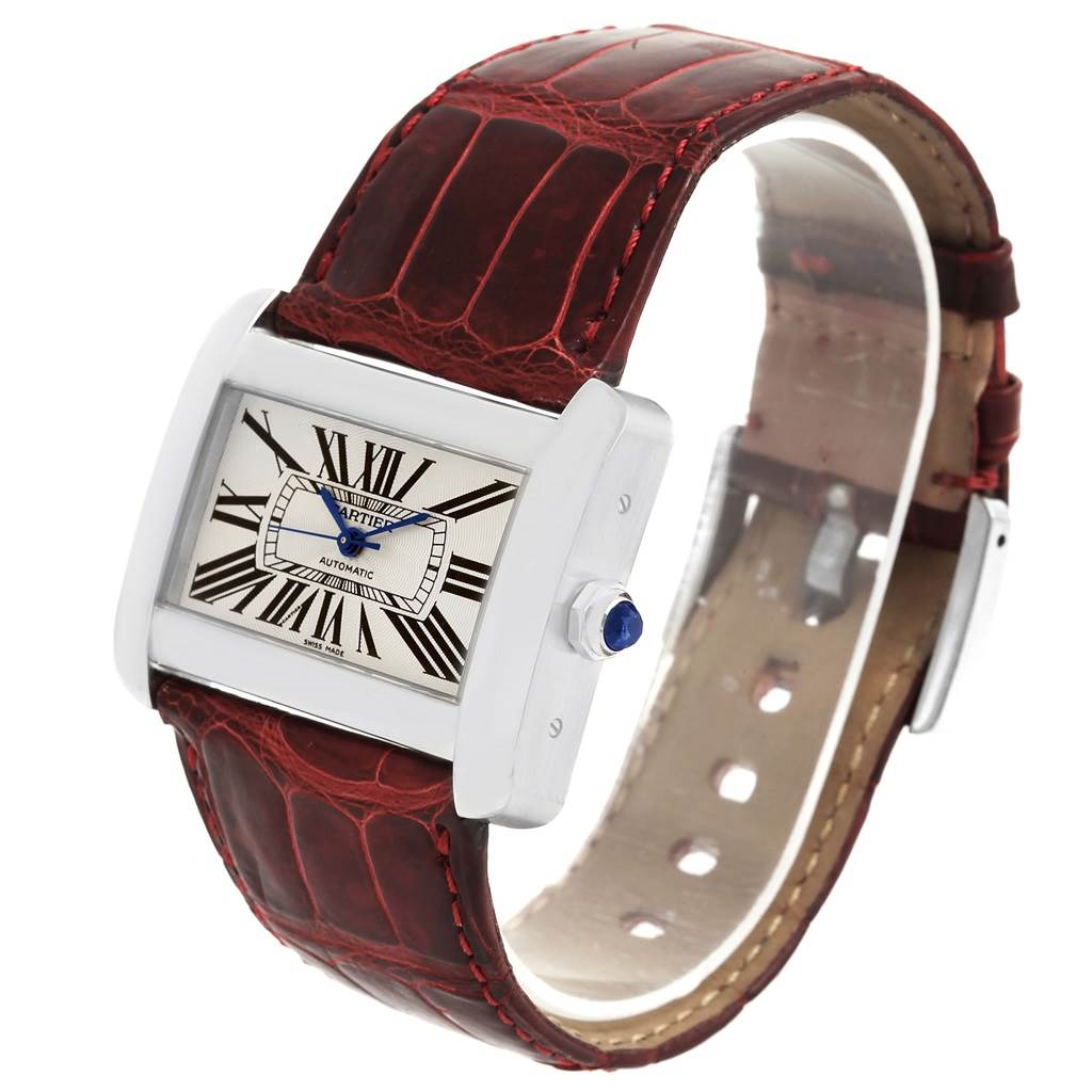 15249 Cartier Tank Divan XL Silver Dial Unisex Watch W6300755 Box Papers SwissWatchExpo