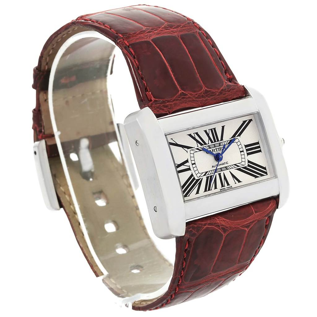 Cartier tank divan xl silver dial unisex watch w6300755 for Cartier divan xl