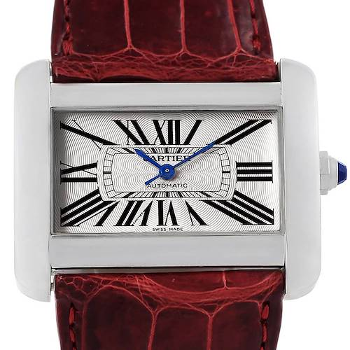 Photo of Cartier Tank Divan XL Silver Dial Unisex Watch W6300755 Box Papers