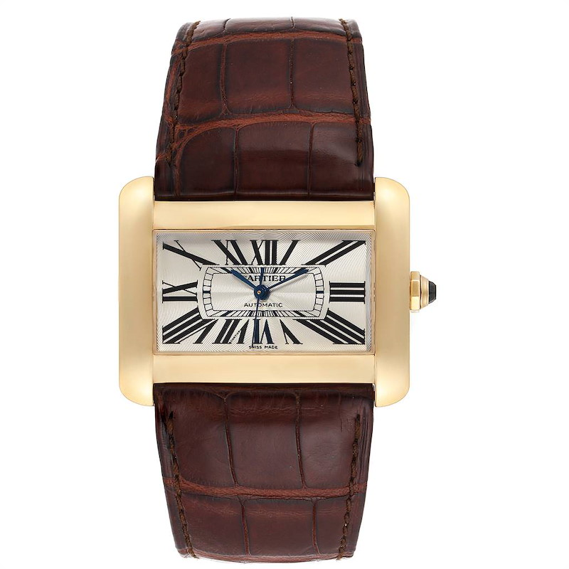 Cartier Tank Divan Large Yellow Gold Ladies Watch W6300856 Box Papers SwissWatchExpo