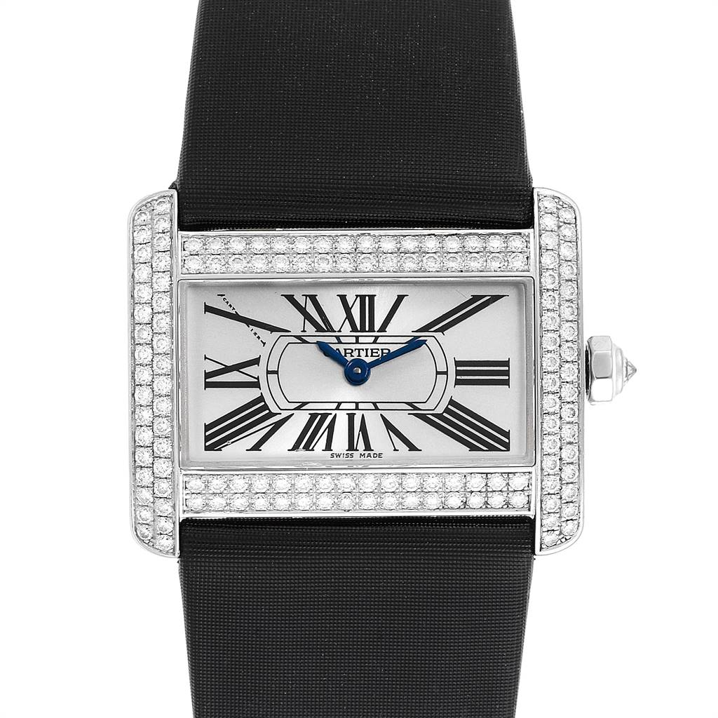 Cartier Tank Divan White Gold Diamond Ladies Watch WA301271 SwissWatchExpo