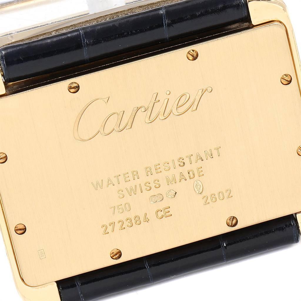 Cartier Tank Divan Large 18K Yellow Gold Diamond Ladies Watch SwissWatchExpo