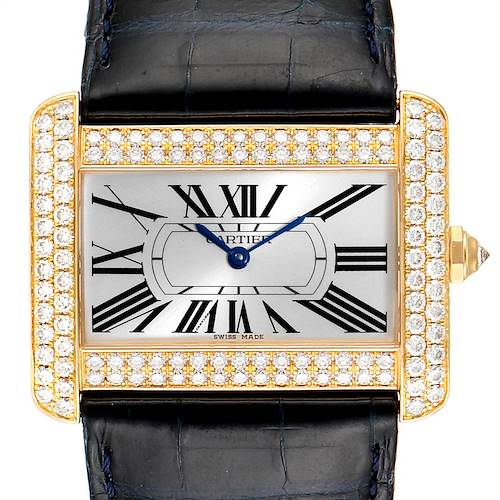 Photo of Cartier Tank Divan Large 18K Yellow Gold Diamond Ladies Watch