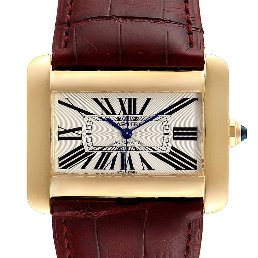 Photo of Cartier Tank Divan Large Silver Dial Yellow Gold Ladies Watch W6300856