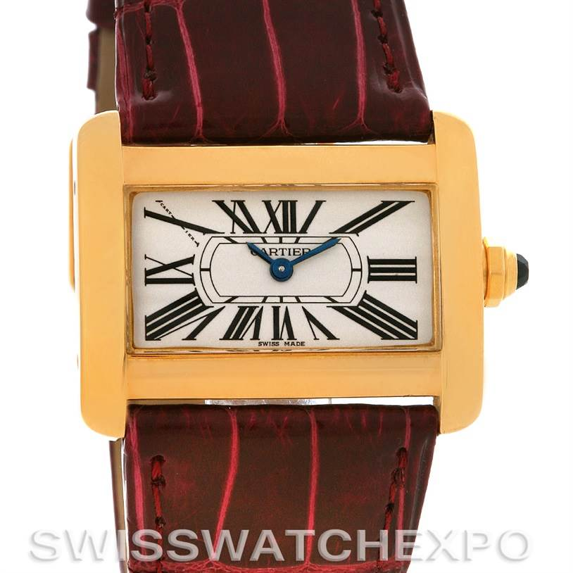 2833 Cartier Tank Divan Ladies 18k Yellow Gold Watch  SwissWatchExpo