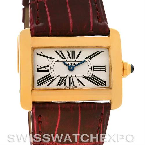 Photo of Cartier Tank Divan Ladies 18k Yellow Gold Watch