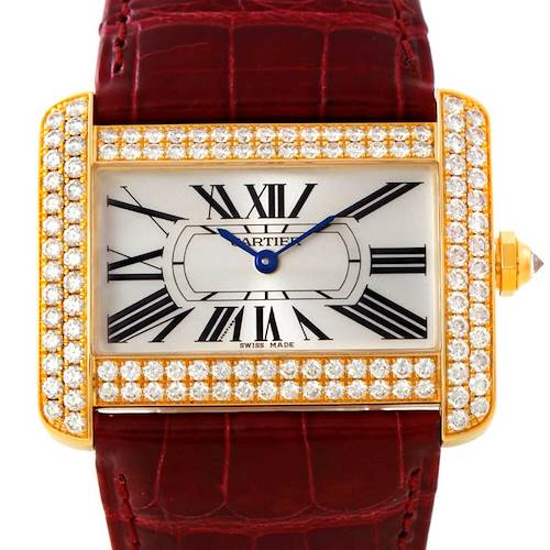 Photo of Cartier Tank Divan Large 18K Yellow Gold Diamond Watch WA301170