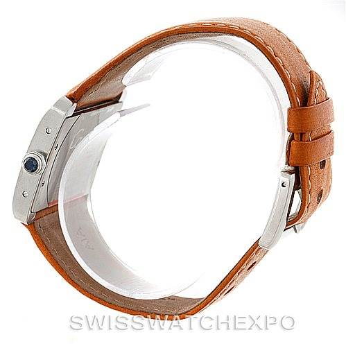 8012 Cartier Tank Divan Large Stainless Steel Watch W6300655 SwissWatchExpo