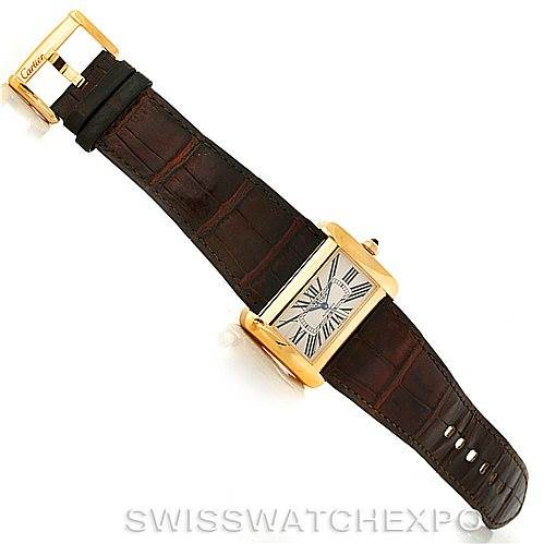 8119 Cartier Tank Divan Large 18K Yellow Gold Watch W6300856 SwissWatchExpo