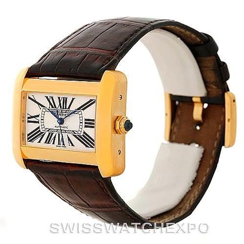 Cartier Tank Divan Large 18K Yellow Gold Watch W6300856 SwissWatchExpo