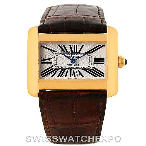 Cartier tank divan large 18k yellow gold watch w6300856 for Cartier divan xl