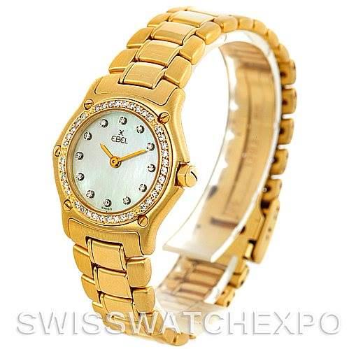 Ebel Ladies 18K Yellow Gold Diamond Watch 890910 SwissWatchExpo