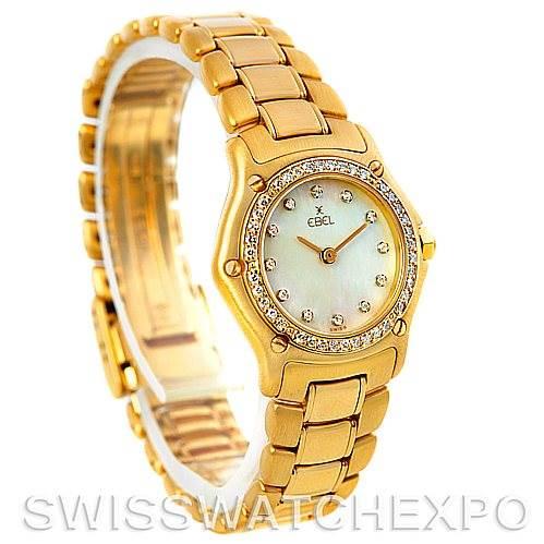 5722 Ebel Ladies 18K Yellow Gold Diamond Watch 890910 SwissWatchExpo