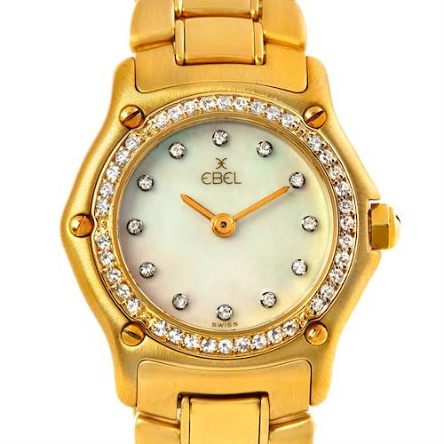 Photo of Ebel Ladies 18K Yellow Gold Diamond Watch 890910