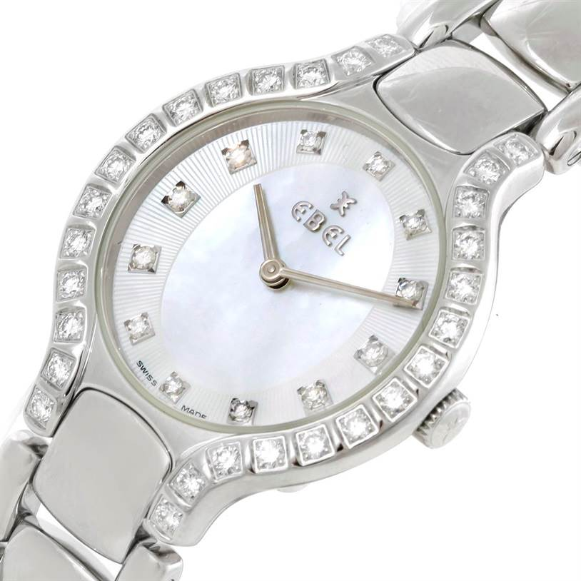 9337 Ebel Beluga Ladies Steel Mother of Pearl Diamond Watch E9157428-20 SwissWatchExpo