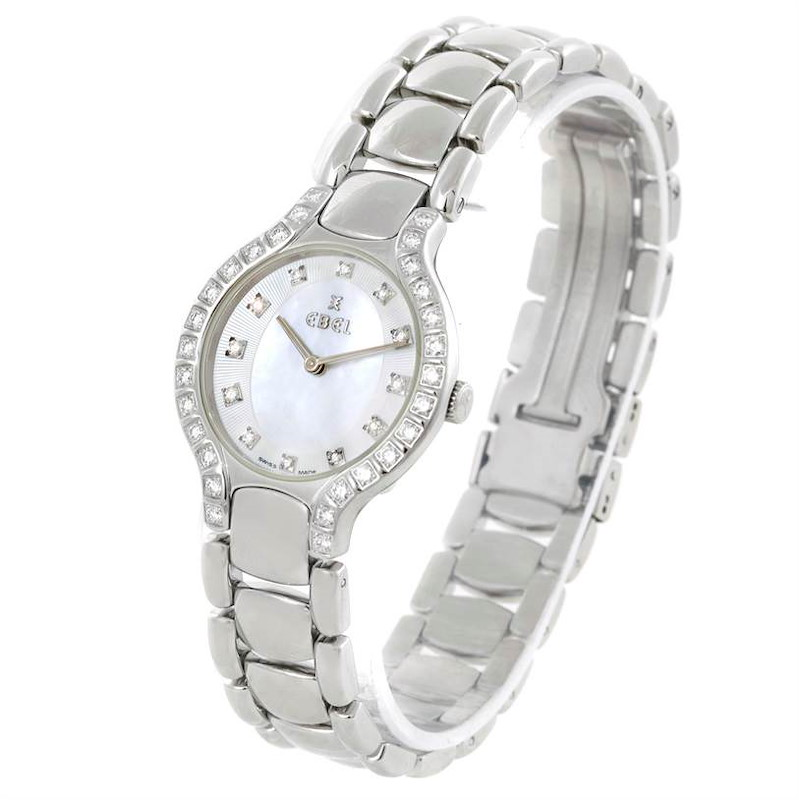 Ebel Beluga Ladies Steel Mother of Pearl Diamond Watch E9157428-20 SwissWatchExpo