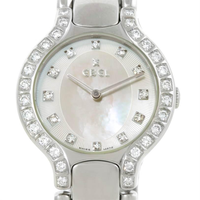 Photo of Ebel Beluga Ladies Steel Mother of Pearl Diamond Watch E9157428-20