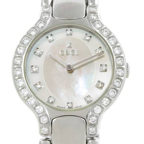 Photo of Ebel Beluga Ladies Steel Mother of Pearl Diamond Watch E9157428-20