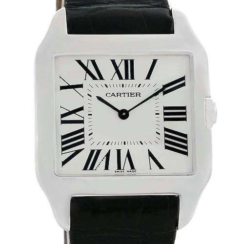Photo of Cartier Santos Dumont Mens 18k White Gold Manual Watch W2007051