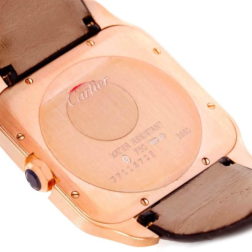 10463 Cartier Santos Dumont Mens 18k Rose Gold Watch W2006951 SwissWatchExpo
