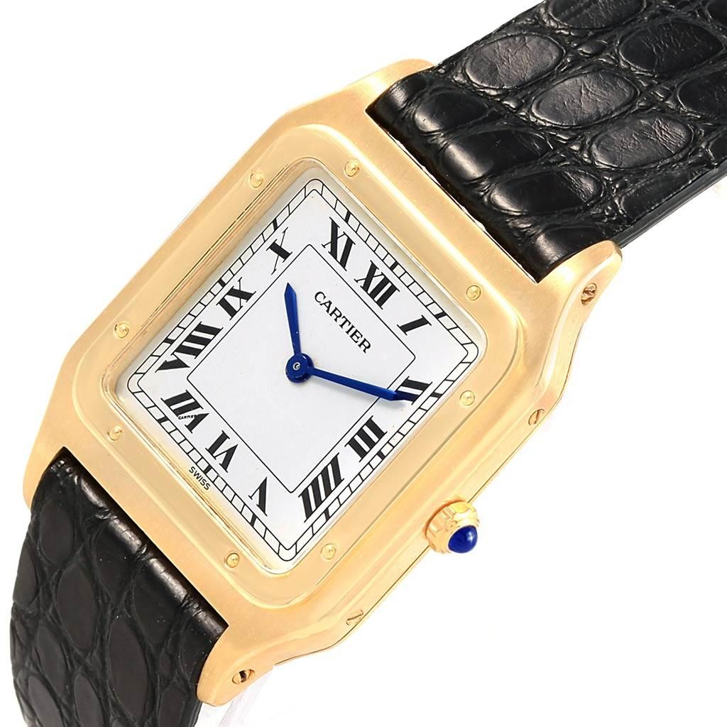 3992X Cartier Santos Dumont Paris Yellow Gold Manual Watch 15751 SwissWatchExpo